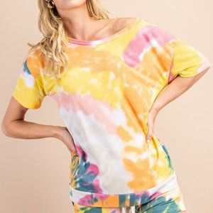 Madison Tie Dye Relaxed Fit Vintage Wash Tee